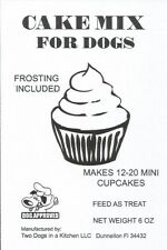 Dog Cake Mix Frosting Puppy Cake Treat Birthday Celebration  Cupcakes 6 FLAVORS