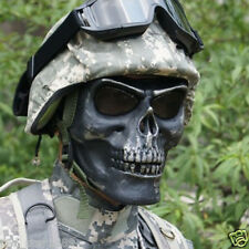 Outdoor Full Face Death Skull Bone Airsoft Hunting War Game Protect Safe Mask