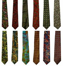 NEW! Mens Silk Feel Tie Funky Retro Vintage Cool Style GREAT! WOW! IDEAL GIFT!