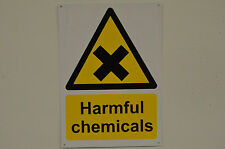 Harmful Chemicals Hazard Warning Danger Sign With/Without Holes Or Sticker A6