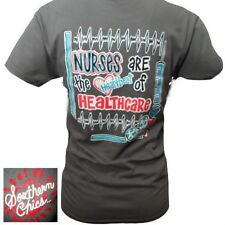 NEW Hot Gift Southern Chics Funny Nurses Heartbeat Healthcare Bright T Shirt