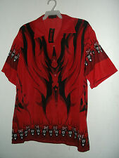 NWT SANDMAN PRINT HAWAIIAN STYLE SHIRT size 2x in red or S blue  by BIG BROTHER