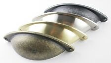 Traditional Shaker Cup Pull Kitchen / Cabinet Handle With Faux Screws 64mm H/C