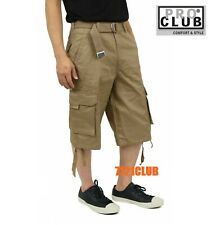 NWT PROCLUB TWILL Mens Casual CARGO Shorts Tactical Combat BDU 100% Cotton 30-64
