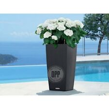 """Lechuza Cubico Cottage Patio Planter 12"""" Several Colors Self Watering"""