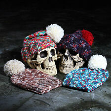 ByTheR Vivid Mosaic Beanie Knit Hat Colorful Casual Stylish SFSELFAA0016339
