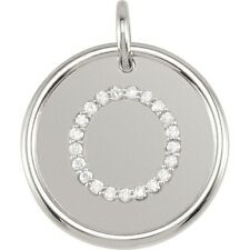Posh Mommy Jewelry Initial O Roxy Pendant with Diamonds, Silver or 14K Gold