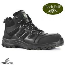 Rock Fall Marble Black S1P SRC Composite Toe Cap Hiker Safety Boots Work Boots
