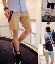 New Fashion Mens Trend Stylish Casual Short Pants Pure Color Cropped Trousers