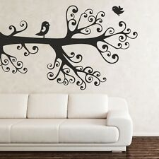 SWIRL BRANCHES TREE wall art stickers decal transfer bird sticker vinyl