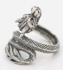 Sterling SIlver 925 Handmade Bali Dragon Finger Wrap Ring. Sz 7,8,9.