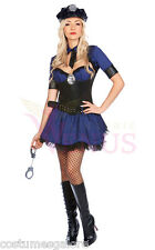 Ladies Costume Fancy Dress Up Navy Police Cop Uniform (143) Sz 6,8,10,12,14,16