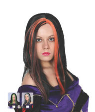 New popular Womens Halloween Black Witch Wig with stripes-3 colours