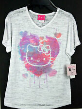 NWT T-SHIRT GIRLS YOUTH GRAPHIC TEE HELLO KITTY SANRIO SHORT SLEEVE