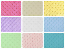 "Dimple Dot Popcorn Minky Cuddle Soft Fleece Fabric 59""/150cm wide per metre/half"