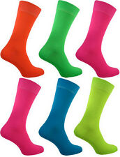 Mens Neon Socks Teddy Boy Quality Bright Designs Fancy Dress Size 6-11 New