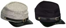 Civil War Wool Kepi In (Confederate) Grey And (Union) Navy Blue ONE SIZE FIT ALL
