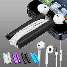 iPhone 5S 5C 4S 3GS iPod Touch Nano Shuffle EarBud Earphone + Clip Cord Winder
