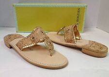Jack Rogers Navajo cork gold sandals New In Box