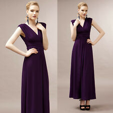 Sexy Womens Deep V Empire Waist Maxi Long Party Cocktail Ball Gown Evening Dress