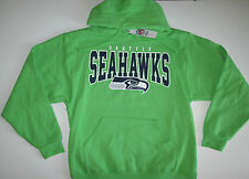 NFL Seattle Seahawks Deep Post IV Neon Green Pullover Hoodie Jacket Jersey
