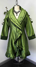 Fabulous and New Style Raw Silk Jacket IN M , L , XL, 1XL in Solid Colors