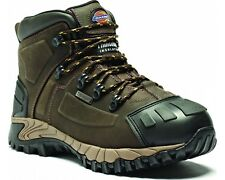 MENS DICKIES WATERPROOF MEDWAY SAFETY BOOTS SIZE UK 6 - 12 BROWN HIKER FD23310
