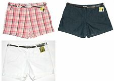 Lee NEW Natural Fit Tummy Control Instantly Slims Belted Shorts Plus 24W $44