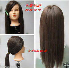 """2 Color Hairdressing Training Head Practice Model Mannequin Cut 20"""""""