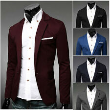 Korean Style Men's Sexy Knitted Suits Formal Jacket One Button Blazer Outerwear