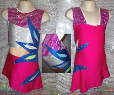 Rhythmic Gymnastics Leotard Twirling Tap Ice Skating Dress Dance Costume