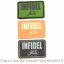 AIRSOFT INFIDEL PATCH RUBBER PATCH MORAL PATCH BLACK TAN OD