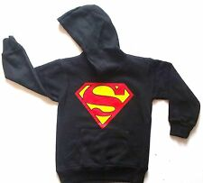 SUPERMAN HOODIE/SWEATSHIRT-FULL SLEEVED-FLEECED-REDUCED TO CLEAR-NEW WITHOUT TAG