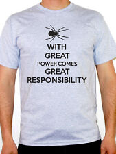 WITH GREAT POWER COMES GREAT RESPONSIBILITY - Superhero Themed Mens T-Shirt