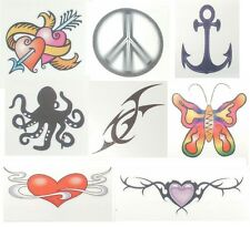 TEMPORARY TRANSFER TATTOOS ALL STYLES 5CM X 5CM CARDS BUY ONE GET ONE FREE