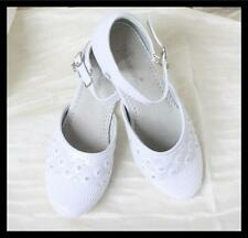 White Girls Formal Dress Party Wedding Shoes Bridesmaid Flower Girl Shoes