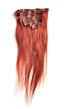 """7Pcs 15""""/18""""/20""""#33,Straight 100% Brazilian Human Remy Clip in Hair Extensions"""