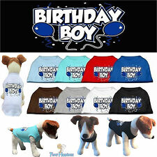 Dog Clothes BIRTHDAY BOY Screen Print T Shirt Tee for Dogs Puppy MADE IN USA