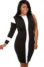 Plus Size Popular Trendy Stretch Party  Half Cut Bodycon Dress giti online