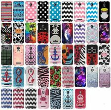 For Alcatel One Touch Fierce 7024W Protector Rubberized Hard Cover Phone Case
