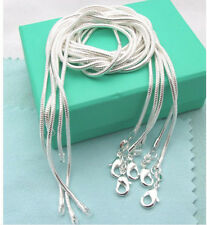 "wholesale free shipping SOLID Silver 5PCS X 2mm snake chain Necklace 16-24"" B925"