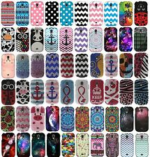 For Samsung Galaxy Light T399 Snap On Protector Rubberized Hard Cover Phone Case