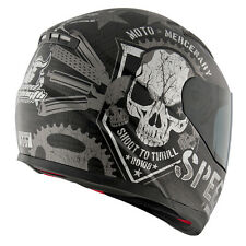 NEW SPEED AND STRENGTH MOTO MERCENARY MATTE BLACK SS1100 HELMET STREET BIKE SS
