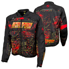Scorpion CA Departed Black / Red Textile Motorcycle Riding Jacket