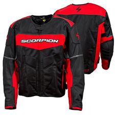 Scorpion CA Eddy Red / Black Textile Motorcycle Riding Jacket