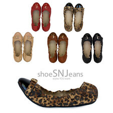 New Women Comfort Travel Slip On Casual Foldable Cap Toe Party Shoes Ballet Flat