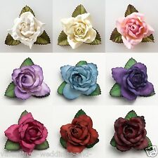 Paper Open Roses Flower Large 50mm Wedding Favour Decoration Craft