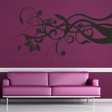 SWIRL FLOWER wall sticker butterfly floral decal mural corner stickers vinyl