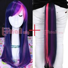 My Little Pony Twilight Sparkle Purple/Pink Cosplay Wig Tail
