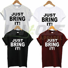 THE ROCK T Shirt UNISEX just bring it! TEE WWF WWE - Wrestling Dwayne Johnson
